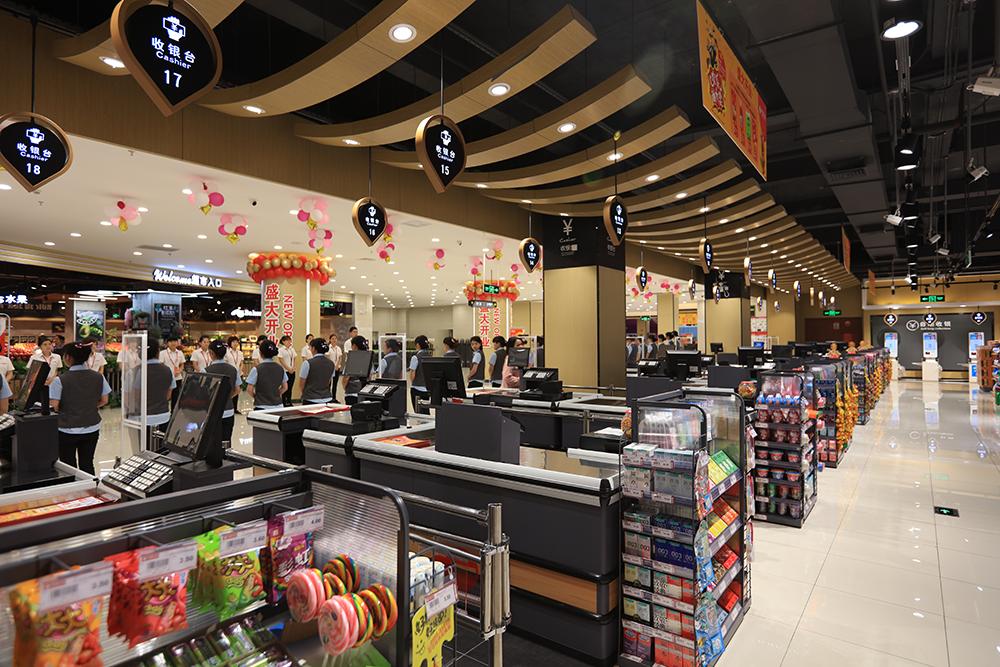 超市货架-收银台(钢木纹系列)