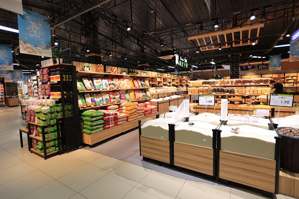 超市货架-五谷杂粮散装大米堆头