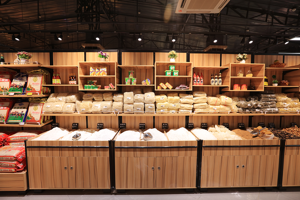 超市货架-五谷杂粮单面货柜