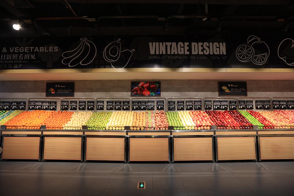 超市货架-蔬果货架(单面不锈钢系列)