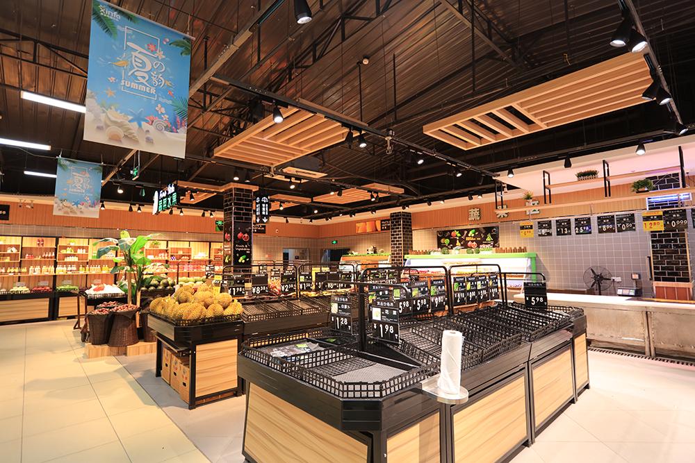超市货架-蔬果货架(双面ABS黑色围边)