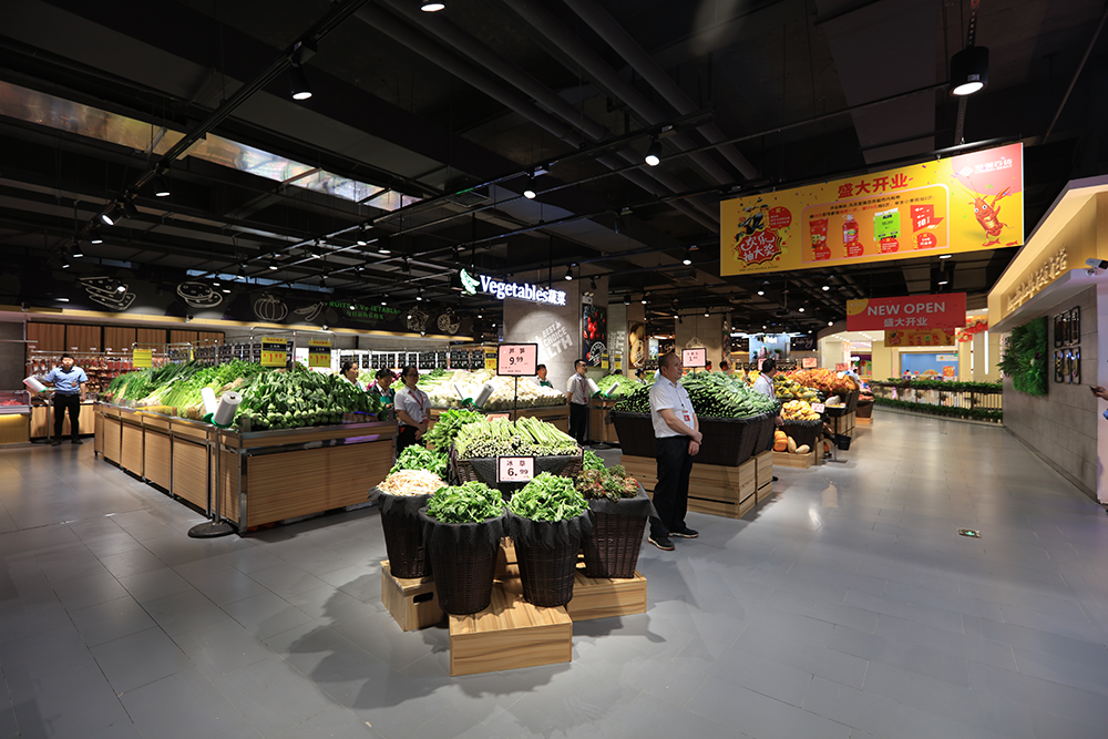 超市货架-蔬菜货架(情景陈列筐堆头)