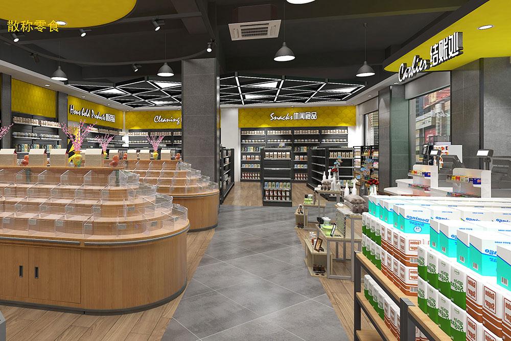 超市货架-散装零食收银台