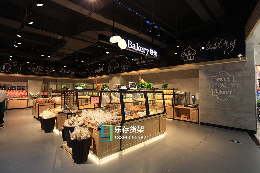精品超市--面包区货架(钢木系列)