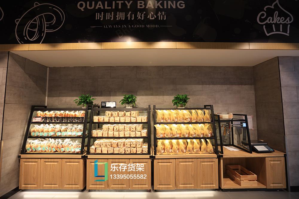 精品超市--面包柜(钢木系列)