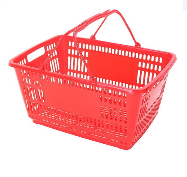 超市购物篮,手提篮子,塑料菜篮子,家用收纳购物框,拉杆篮带轮,啤酒篮子 ,乐存厂家直销