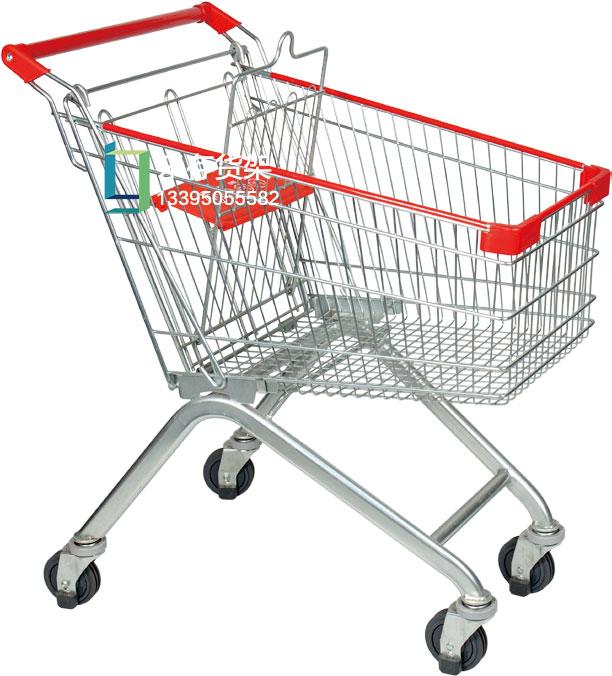 手推车、静音推车、超市推车、超市购物车  超市购物车、商场手推车、超市手推车(乐存货架)
