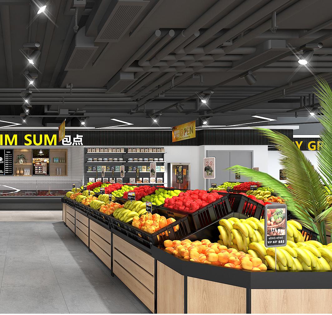 超市货架面包区